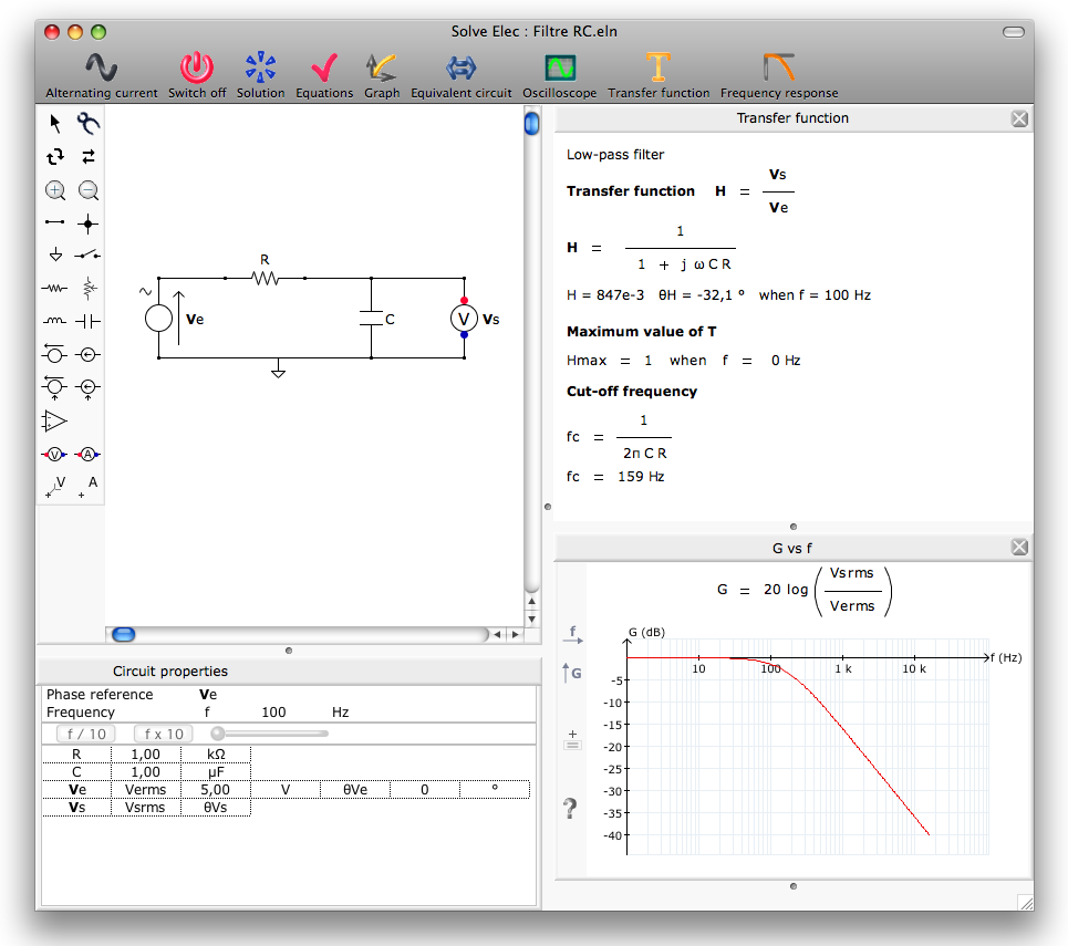 Solve Elec 2.5: Free electronics circuit analysis software – MASHe